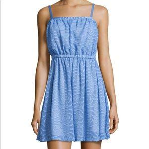 NWT Susana Monaco Jacquard Square-Neck Dress